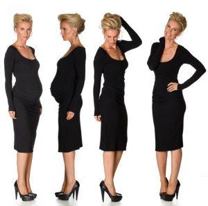 China Long Sleeve Maternity Dress Black Maternity Dress China Maternity Dress And Maternity Wear Price