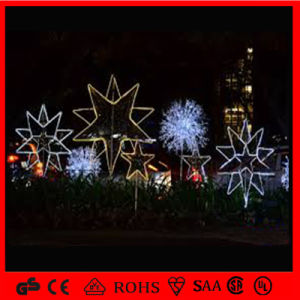 star shape metal christmas decorationled outdoor light