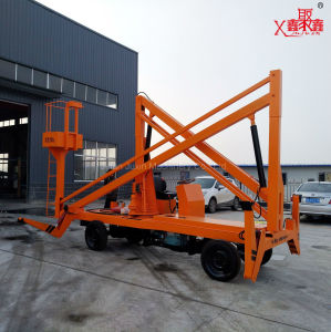 Aerial Repair Trailer Movable Folding Arm Boom Lifting Platform pictures & photos