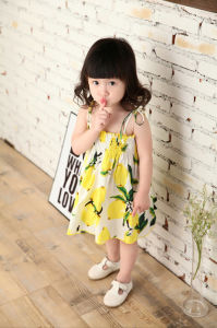 42ff544a60c9b China 2016 New Korean Fashion Baby Girls Summer Kids Party Girl Dresses Kid  Toddler Lemonade Sling Beach Dress (Item No. 16826) - China Korean Children  ...