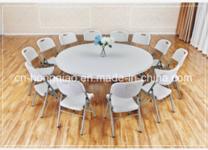 China Plastic Round Table for Hotel Restaurant Living Room Garden