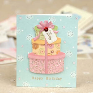 China Factory Price Birthday Mini Greeting Cards