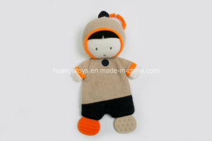 Knitting Fabric Baby Teether Dog Toy pictures & photos