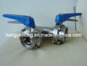 SMS Butterfly Valve Welded with Tee/Elbow (HYB07)