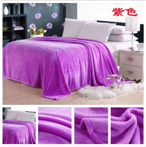 Profesional Manufacturer of Flannel Fleece Blanket pictures & photos