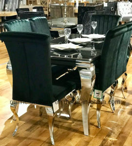 Super Modern French Europe Louis Dining Table Green Velvet Nicole Dining Chair Spiritservingveterans Wood Chair Design Ideas Spiritservingveteransorg