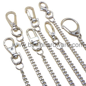 25mm Nickel Plated Key Ring Double Loop with Chain pictures & photos