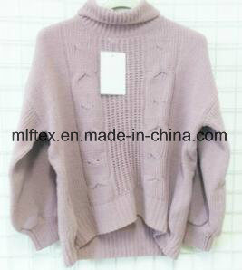 Turtleneck Pink Thick Sweater for Women