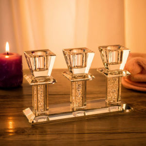 ae53916e96 Crystal 3 Head Candle Holder Wedding Party Home Decor Tealight Candlesticks  Wedding Event Candlestick Candelabra