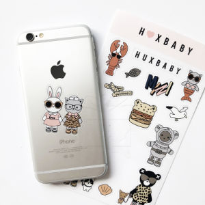 quality design 7c384 0ca44 Laptop and Mobile Phone Clear Stickers Sheet Customized Die Cut Stickers