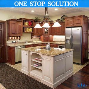 China Ce Approved Poplar Solid Wood Kitchen Cabinet Removable
