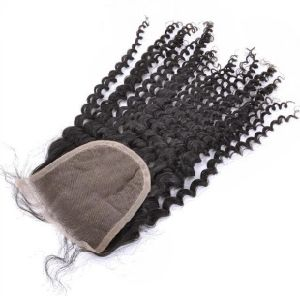 New Arrival Fashion 4*4 Inch Free Part Deep Curly Virgin Human Hair Lace Closure