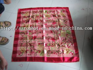 Printed Strip Band Scarf -1