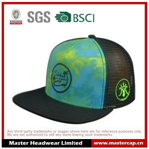 Flat Visor Snapback Cap with Printing Logo for Adults