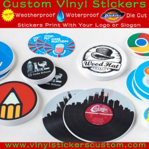 Custom Logo Gloss or Lamination Finish UV Coated Vinyl Round Stickers pictures & photos