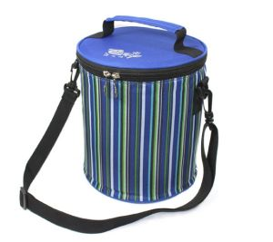 2017 New Round Lunch Bag Outdoor Portable Oxford Picnic Bag