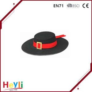 Wholesale Cheap Black Felt Hillbilly Hat for Carnival Party