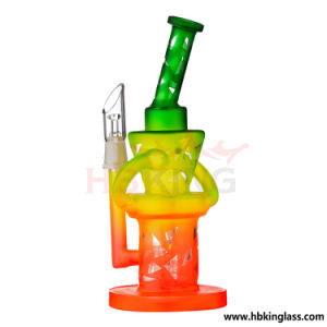 Hbking Colorful Fritted Disc Percs Smoke Glass Water Pipes