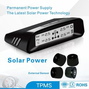 TPMS Tire Pressure Monitoring System Black Screen Display External Sensor Small Car Solar Power pictures & photos