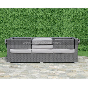 Patio Outdoor Garden Furniture Wicker Rattan Sofa with Canopy pictures & photos