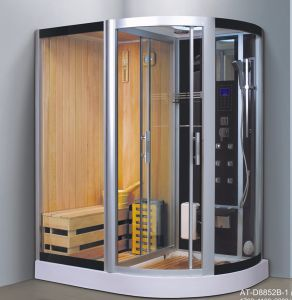 1700mm Sector Steam Combined Sauna with Shower (AT-D8852B-1) pictures & photos