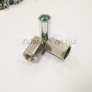 Carbon Steel Small Hex Head Full Hexagon Rivet Nut pictures & photos