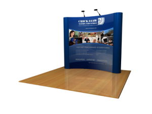 Custom Pop-up Display with Bubble Panel and Event Matte Banners