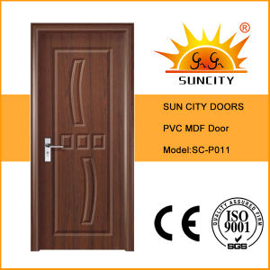 Internal Wooden PVC Bathroom Door Price (SC-P011) pictures & photos