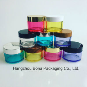 Colorful PETG Cosmetic Jar with Bamboo Lids Cream Jar Plastic Jar pictures & photos