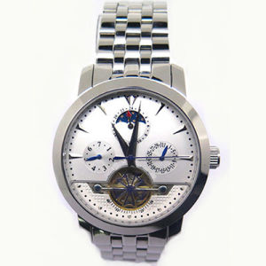 Special Visible Guilloche Module Mechanical Watch for Mens