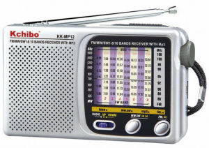 Kchibo Kk-MP12 FM/MW/Sw1-8 10 Band Radio with MP3