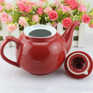 Customize Logo Porcelain Enamel Teapot Ceramic Coffee Tea Pot Dinnerware Coffee Pot pictures & photos