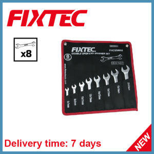Fixtec Hand Tools 8PCS CRV Double Open End Wrench Set Spanner Set pictures & photos