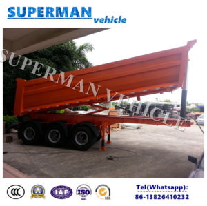 28cbm Tri-Axle Front Lifting Rear Dump Tipping Tipper Trailer pictures & photos
