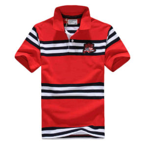 Cotton Yarn Dyed Striped Polo T-Shirt for Men pictures & photos