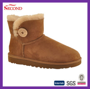Brown Color Women′s Winter Indoor Boots