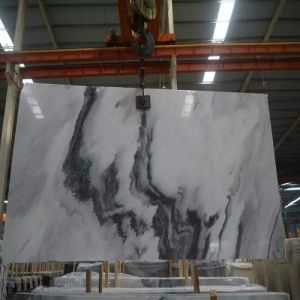 Natural Polished Chinese Landscape Painting Marble Slab