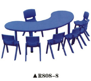 8 Seats Colorful Nursery School Furniture