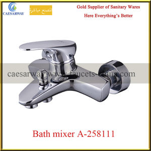 Household Bathroom Wall Mounted Brass Bathtub Mixer pictures & photos