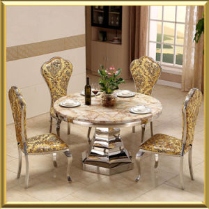 New Model For Hotel Wedding Glass Dining Table Set With Chairs