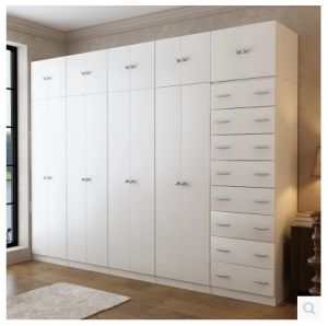 Mutiple Storages of Wooden Wardrobe with White Color pictures & photos