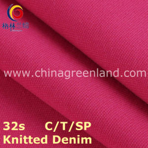 Knitted Denim Cotton Polyester Spandex Twill Fabric for Dress Textile (GLLML217) pictures & photos