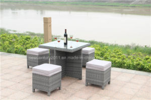 Outdoor Rattan Table and Garden Wicker Bench