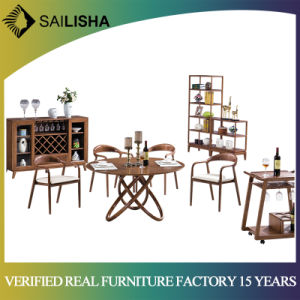 Modern Style Chinese Kitchen Solid Wood Round Dining Table and Chairs Set  Dining Room Furniture Sets