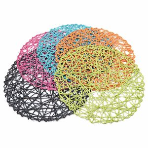 Colorful Paper String Placemat for Home & Decorations