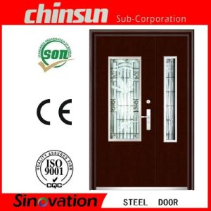 2016 New Designs Double Door with Glass with Ce