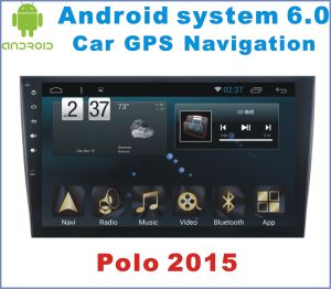 Android System 6.0 Car GPS Navigation for Polo 2015 with Car DVD Player