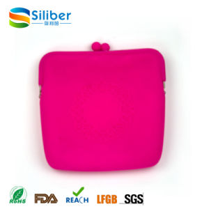 portable Square Silicone Women Hand Clutch Coin Bags for Cosmetic Gifts