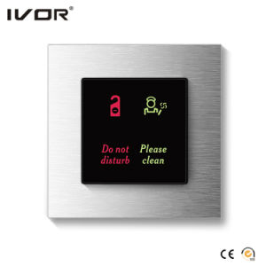 Hotel Doorbell System Indoor Panel Aluminum Alloy Frame (HR-dB1000S2-AL-B) pictures & photos
