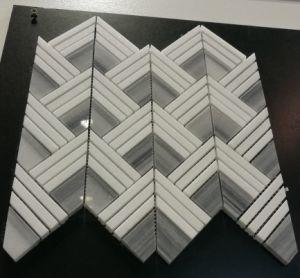 china italian new design arrow fishbone pattern thassos white and